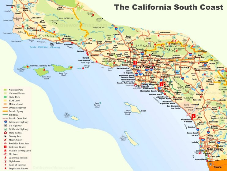 California South Coast Map