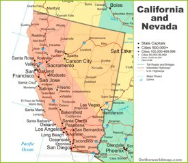 California State Maps | USA | Maps of California (CA) on