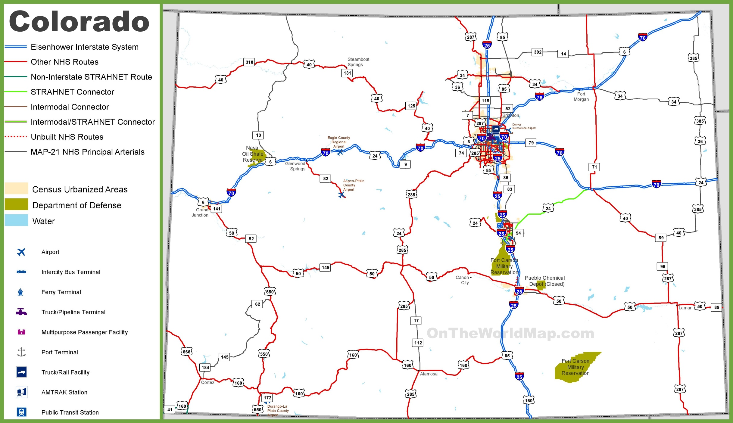 Colorado Road Map - State of colorado map