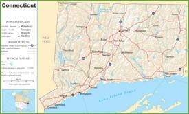 Connecticut highway map