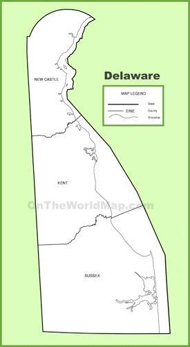 Delaware State Maps | USA | Maps of Delaware (DE) on