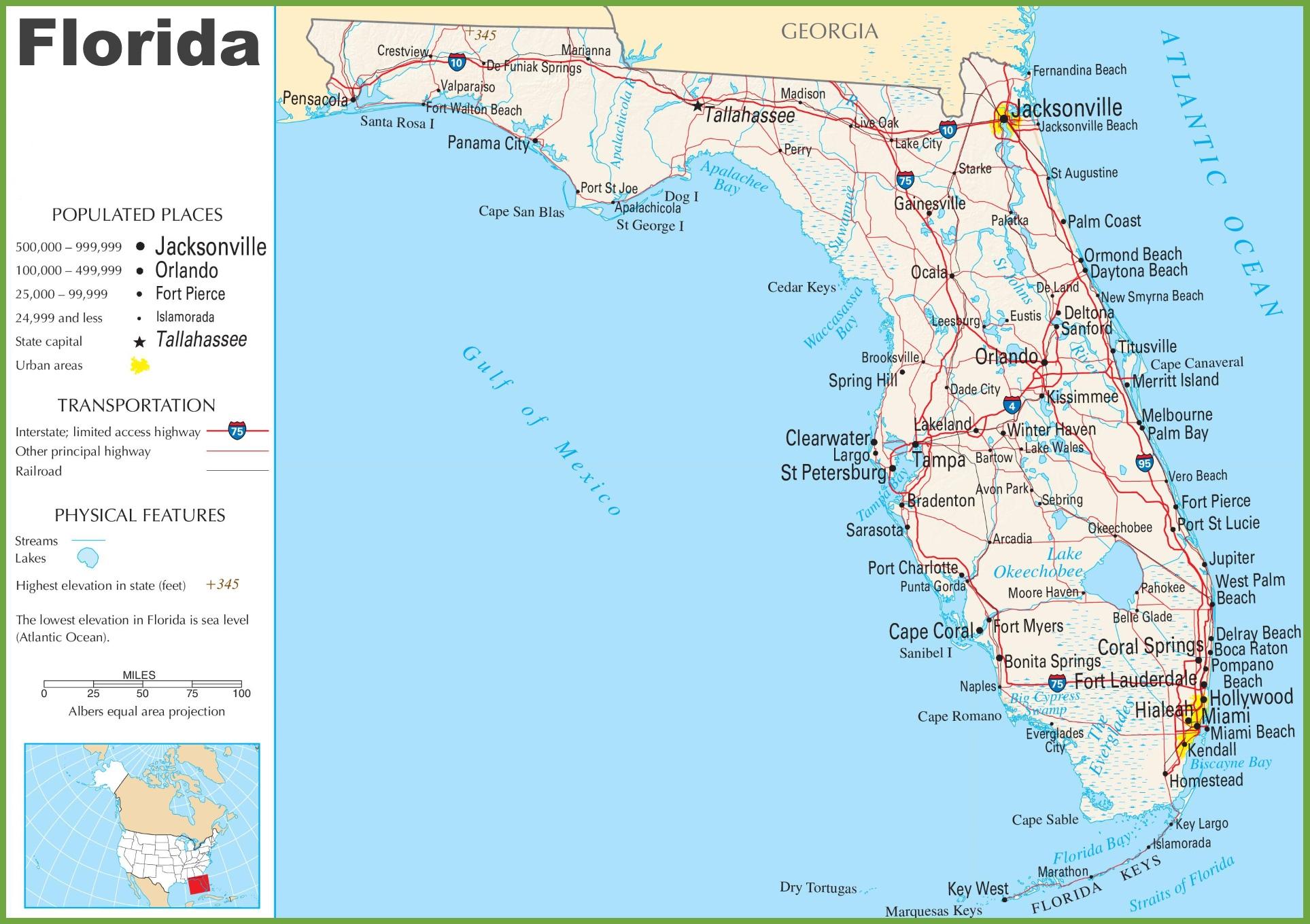Florida Highway Map Florida highway map