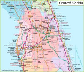 Map of Central Florida