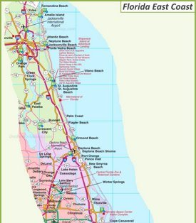 Map Florida East Coast.Florida State Maps Usa Maps Of Florida Fl