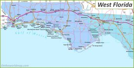 Map of West Florida