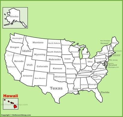 Hawaii Location Map