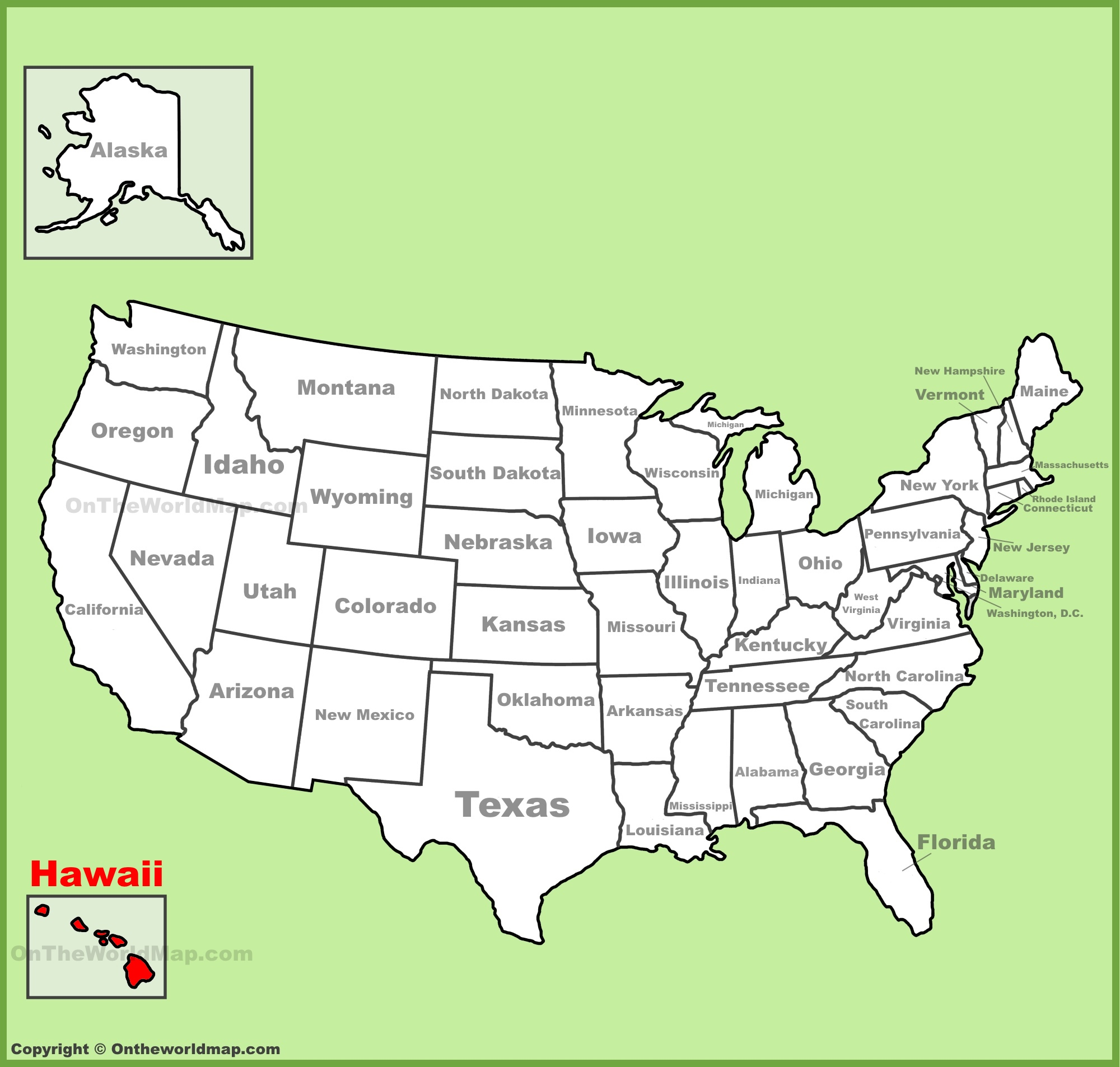 Hawaii State Maps USA Maps Of Hawaii Hawaiian Islands - Usa map with hawaii and alaska