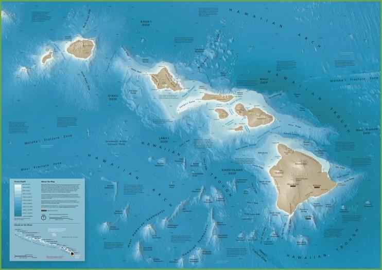 Hawaii seafloor map