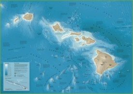 Hawaii seafloor map