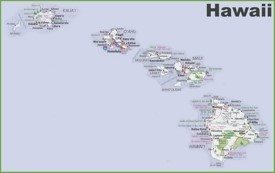 Large detailed map of Hawaii
