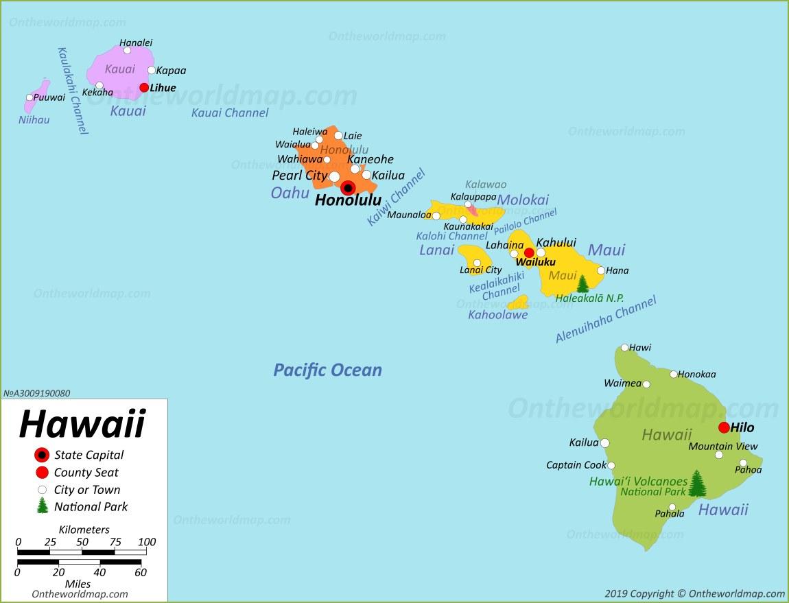 Hawaii Map Usa Maps Of Hawaii Hawaiian Islands