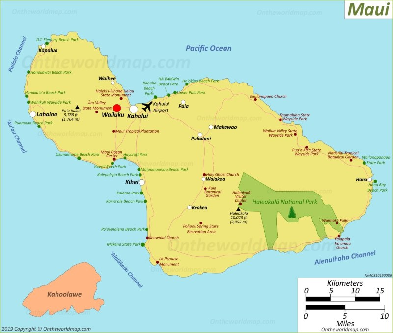 Maui Map Hawaii Usa Map Of Maui Island