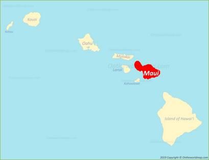 Maui Location Map