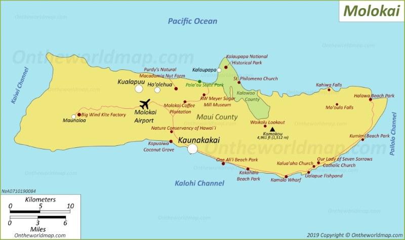 Map of Molokai