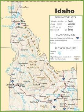 Idaho highway map