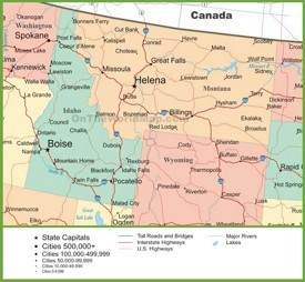 Montana State Maps | USA | Maps of Montana (MT)