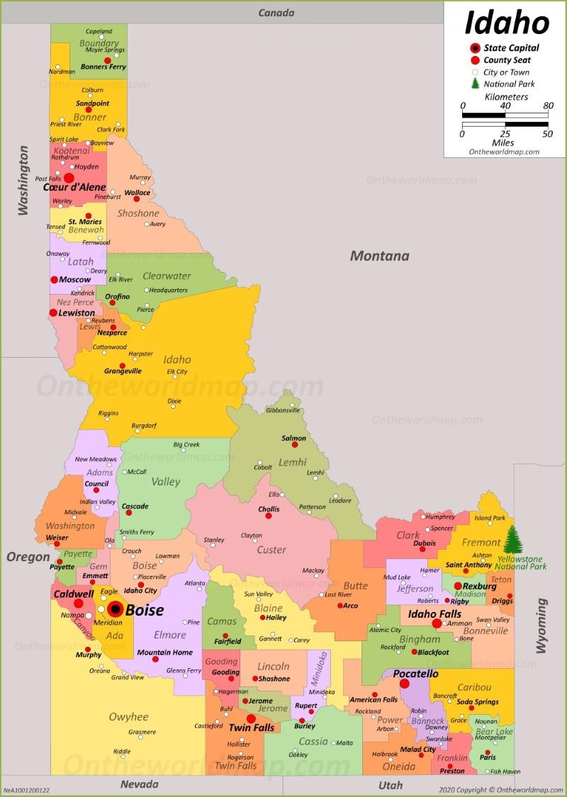 Idaho State Maps | USA | Maps of Idaho (ID)