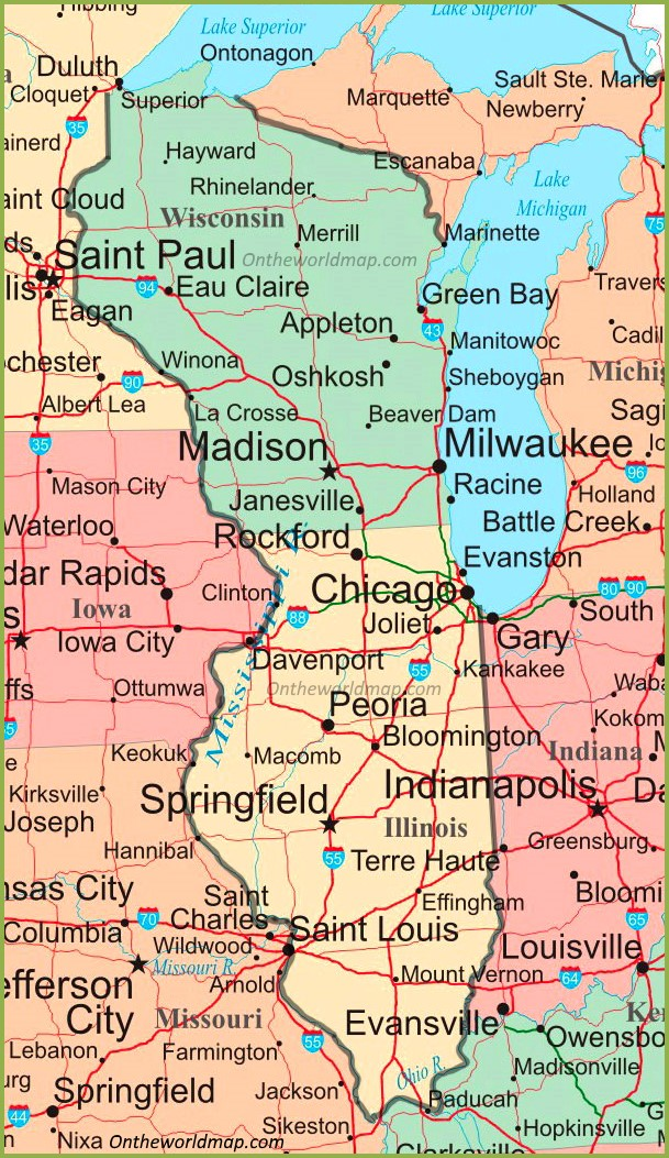 map of wisconsin and iowa Map Of Illinois And Wisconsin map of wisconsin and iowa