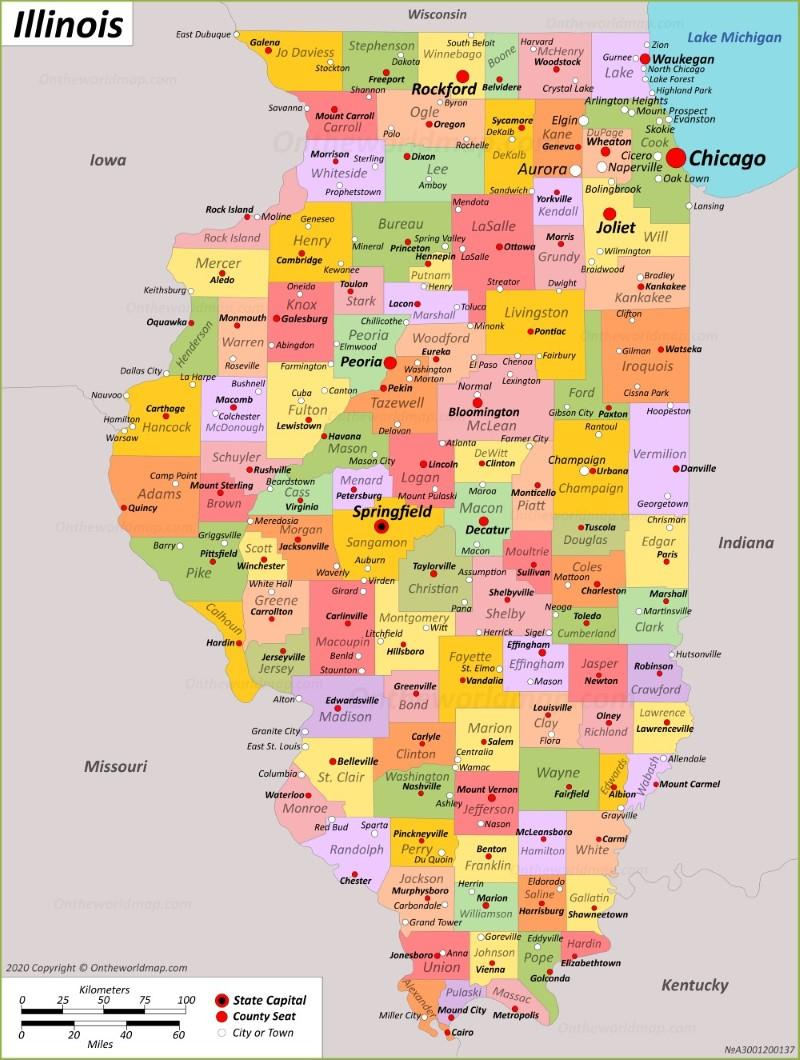 Illinois State Maps Usa Maps Of Illinois Il