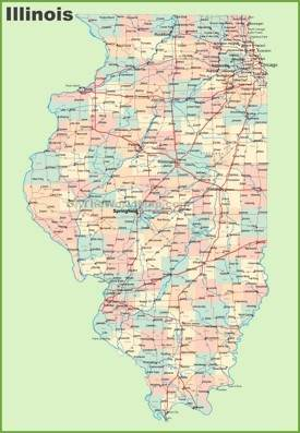 Illinois State Maps USA Maps Of Illinois IL - Illinois on the map of usa