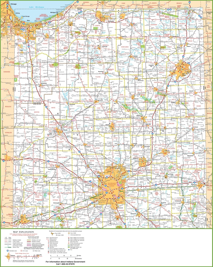 Map Of Northern Indiana