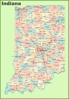 Indiana State Maps USA Maps Of Indiana IN - Indiana map of usa