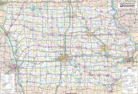 Detailed Map of Iowa