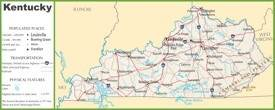 Kentucky highway map