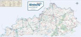 Large detailed road map of Kentucky