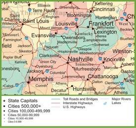 Map Of Tn Cities Tennessee State Maps | USA | Maps of Tennessee (TN)