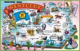 Pictorial travel map of Kentucky
