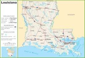 Louisiana highway map
