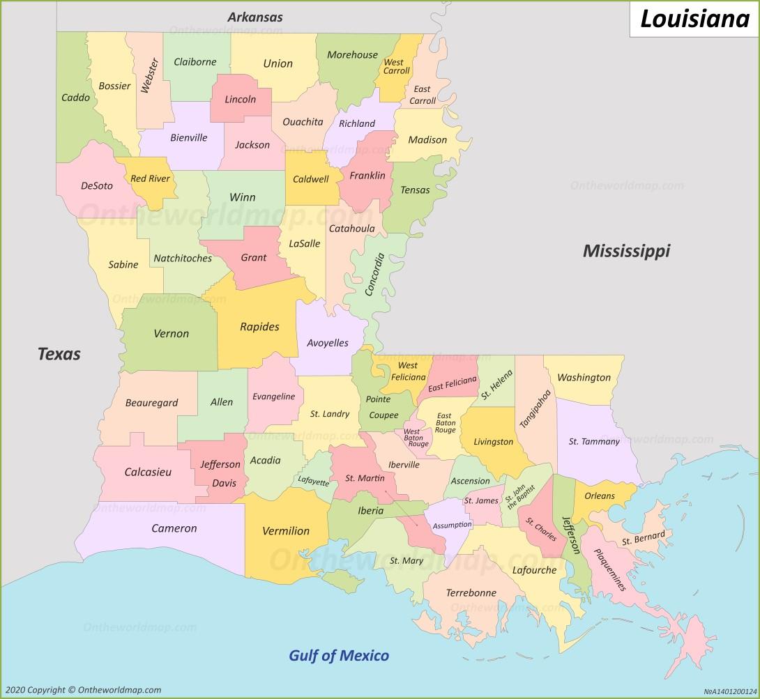 Louisiana State Map Louisiana State Maps | USA | Maps of Louisiana (LA) Louisiana State Map