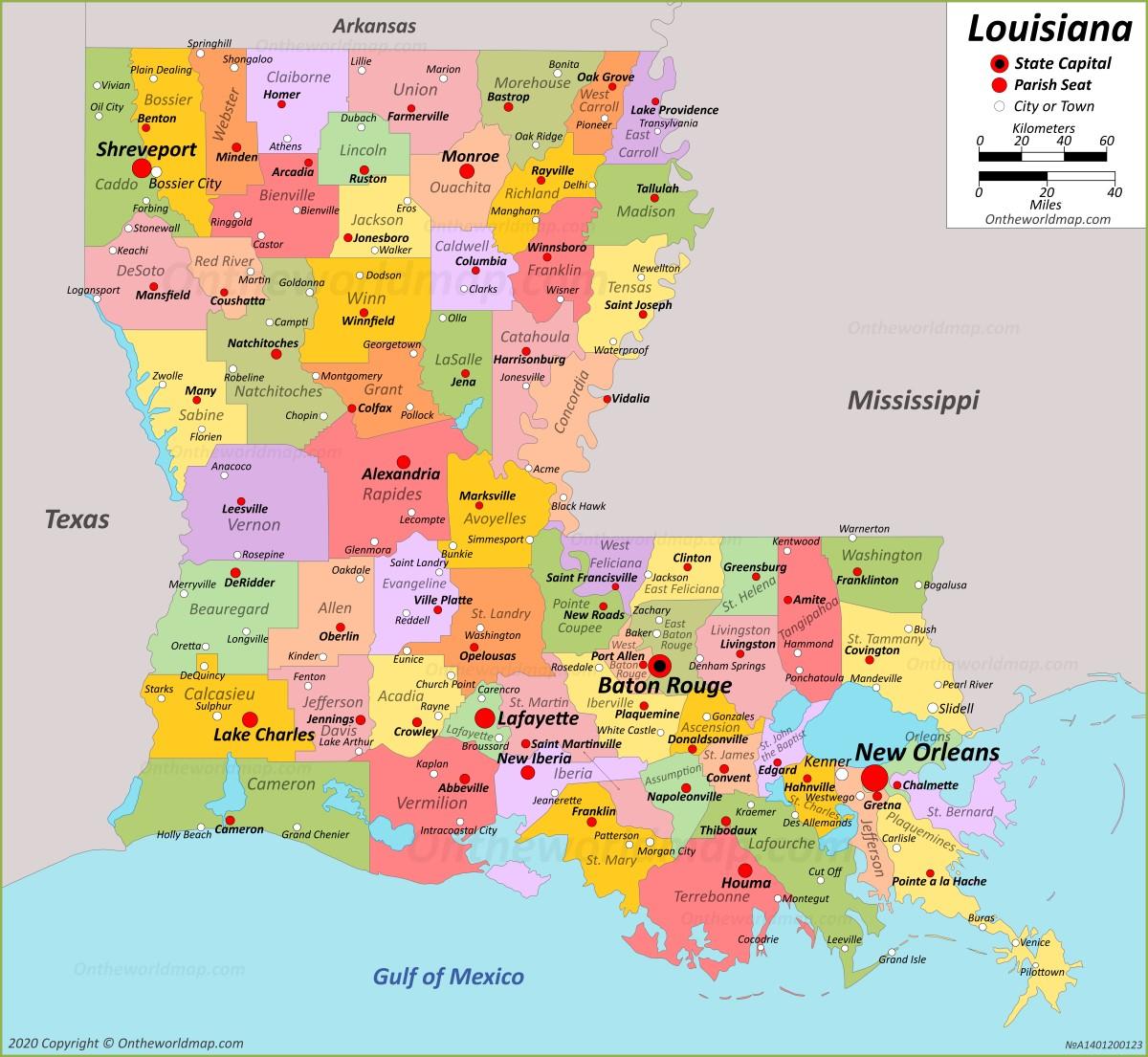Show Me A Map Of Louisiana Louisiana State Maps | USA | Maps of Louisiana (LA)