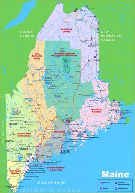 Maine tourist map