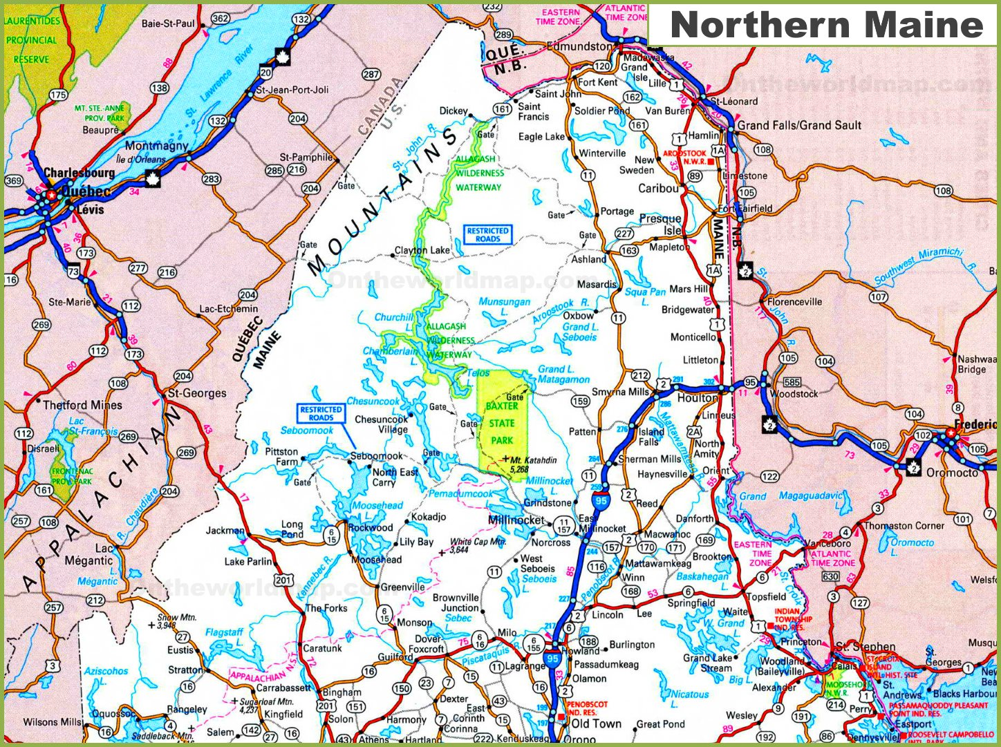 Perry Maine Map.Map Of Northern Maine