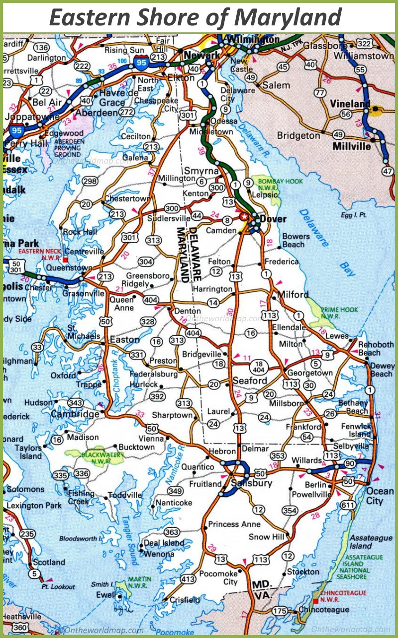 eastern shore maryland map Map Of Eastern Shore Of Maryland eastern shore maryland map