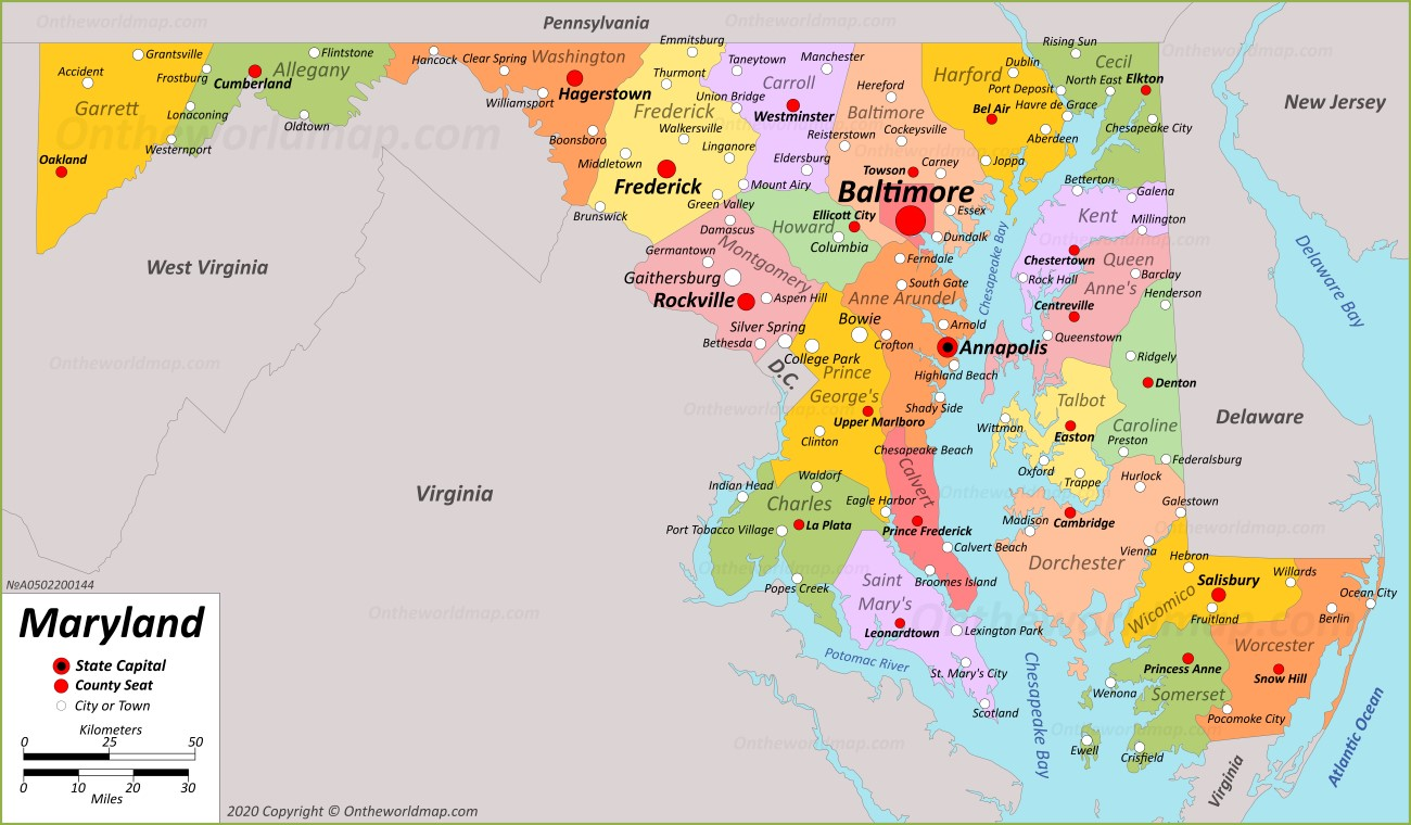 city map of maryland Maryland State Maps Usa Maps Of Maryland Md city map of maryland