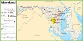 Maryland highway map