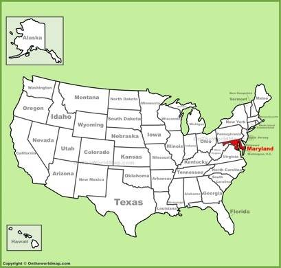 Maryland On A Map Maryland State Maps | USA | Maps of Maryland (MD)