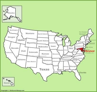 Maryland On Map Maryland State Maps | USA | Maps of Maryland (MD)