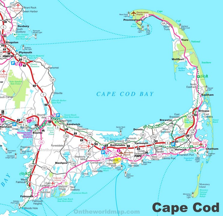 Map of Cape Cod