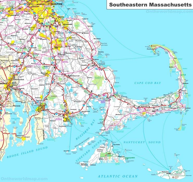 Map of Southeastern Massachusetts