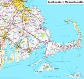 Map of Southeastern Massachusetts