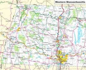 Map of Western Massachusetts