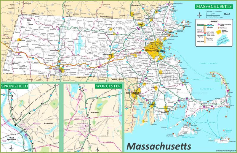 Massachusetts Road Map