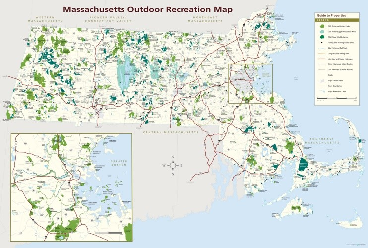 Massachusetts state parks map