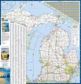 Large detailed map of Michigan with cities and towns