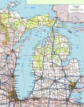 Michigan road map