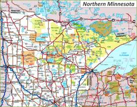 Map of Northern Minnesota